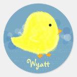 Pegatina lindo del polluelo del bebé de Wyatt
