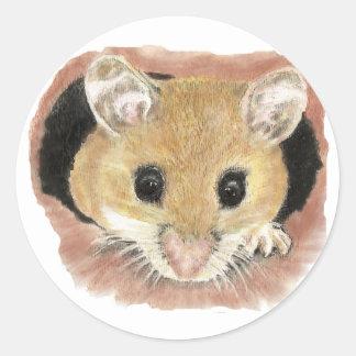 Pegatina lindo del ratón de bolsillo