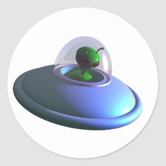 Pegatina lindo del UFO de Lil