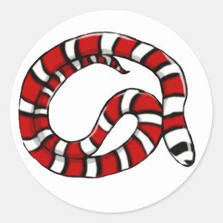 Pegatina llano (actualizado) de la serpiente de