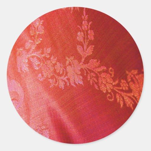Pegatina llano floral rojo
