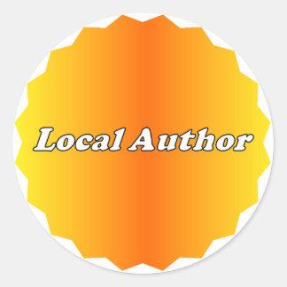 Pegatina local del autor