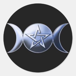 Pegatina lunar de la diosa
