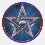 Pegatina lunar del Pentagram de la diosa