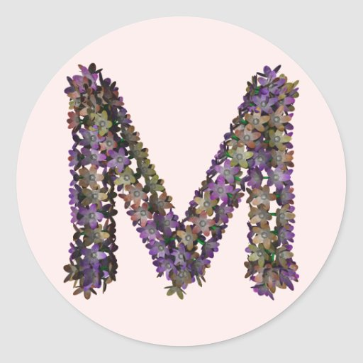 Pegatina M de la flor