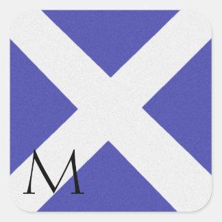 Pegatina M del alfabeto de la bandera de señal