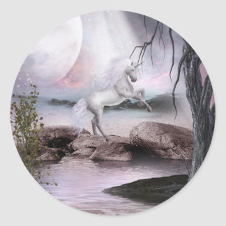 Pegatina mágico de la belleza del unicornio