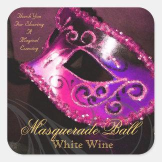 Pegatina mágico de la mascarada del rosa de la