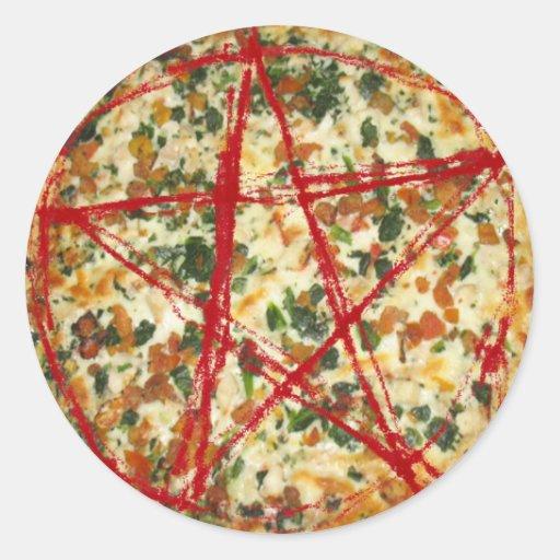 Pegatina malvado de la pizza