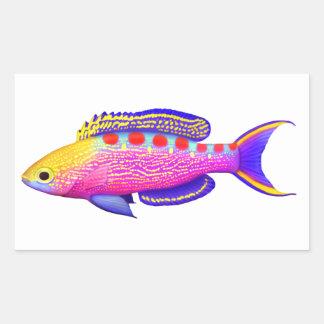 Pegatina manchado amarillo de los pescados del fil