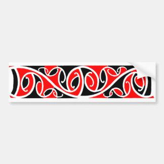 Pegatina maorí del modelo 6 de Kowhaiwhai Pegatina Para Auto