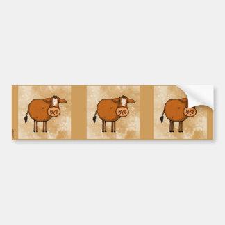 pegatina marrón del libro de recuerdos de la vaca pegatina para auto