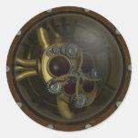 Pegatina mecánico del corazón de Steampunk