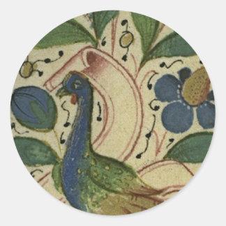 Pegatina medieval del faisán