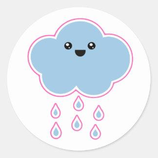 Pegatina mega de la llovizna de la nube de Kawaii