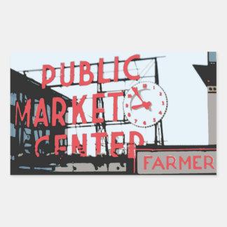 Pegatina - mercado de lugar de Pike