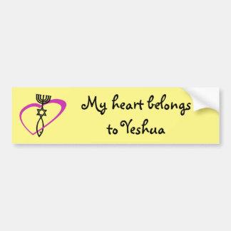 Pegatina mesiánico del corazón pegatina para auto