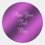 Pegatina metálico púrpura del personalizable de la
