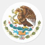 Pegatina mexicano del escudo de armas