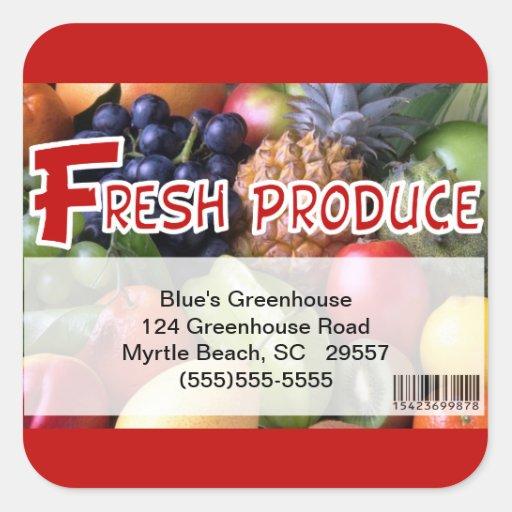 Pegatina mezclado de la producción de la fruta