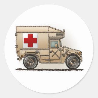 Pegatina militar de la ambulancia de Hummer