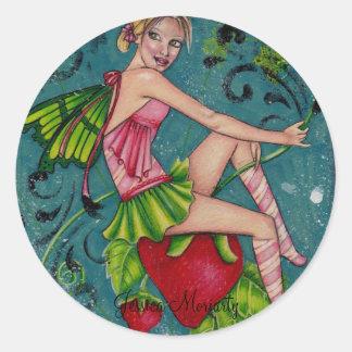 Pegatina modelo de hadas del placer de la fresa