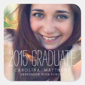 Pegatina moderno 2015 de la graduación de la foto
