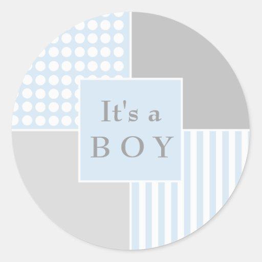 Pegatina moderno azul del bebé