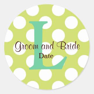 Pegatina moderno del monograma del boda de la