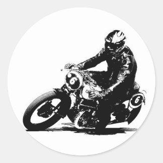 Pegatina motocicleta coche antiguo Puch S4