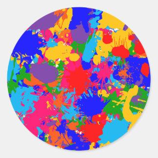 Pegatina multicolor de la salpicadura de la
