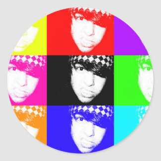 ¡Pegatina multicolor! Pegatina Redonda