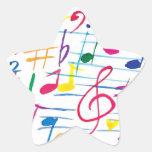 Pegatina musical de la estrella