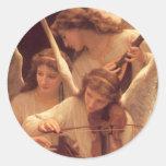 Pegatina musical de tres navidad de los ángeles