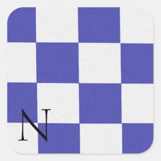 Pegatina N del alfabeto de la bandera de señal