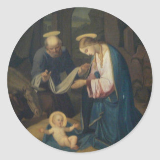 Pegatina: Nacimiento de Cristo Pegatina Redonda