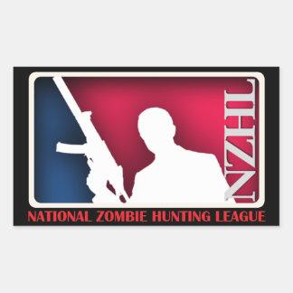 Pegatina nacional de la liga de la caza del zombi