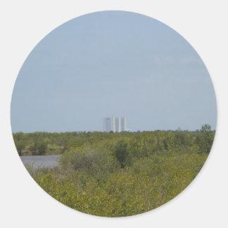 Pegatina nacional de la reserva de la isla de