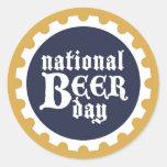 Pegatina nacional del día de la cerveza
