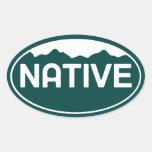 Pegatina nativo del óvalo de Colorado