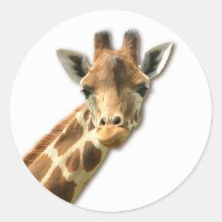 Pegatina Necked largo de la jirafa