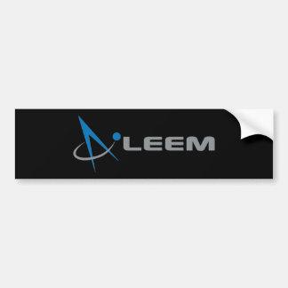 Pegatina negra con el logo compás bumper sticker