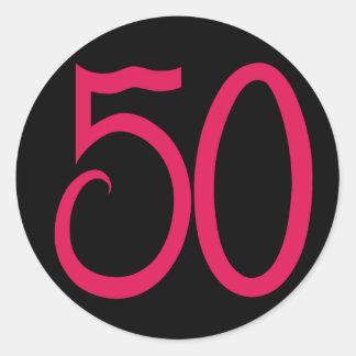 Pegatina negro 50
