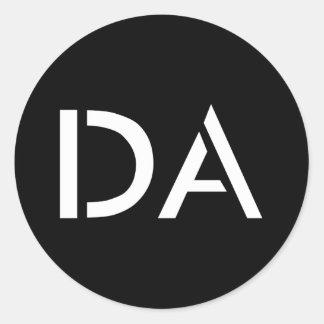 Pegatina negro clásico de DA