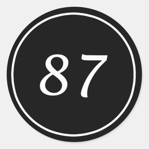 Pegatina negro de 87 círculos