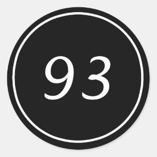 Pegatina negro de 93 círculos