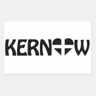 Pegatina negro de Kernow