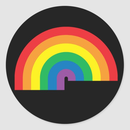 Pegatina negro del arco iris