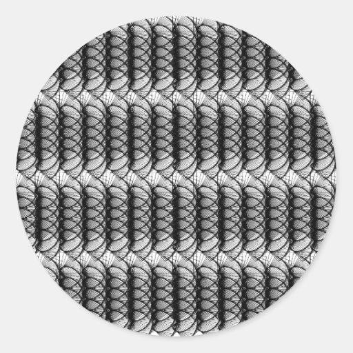 Pegatina negro del modelo del remolino