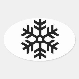 Pegatina negro del norte del copo de nieve de Rye
